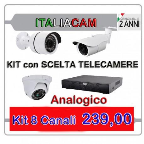 Kit Videosorveglianza 4 Canali 960H 4 Telecamere NO HD