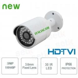Telecamera 1080P  Videosorveglianza HD-TVI 3Mpx 1080P 3.6mm - Serie Lite