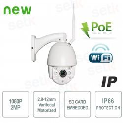 Telecamera IP PTZ WiFi 2Mpx 4x Zoom SDCard PoE