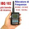 FREQUENZIMETRO RILEVATORE MICROSPIE 50hz-2,6Ghz IBQ 102