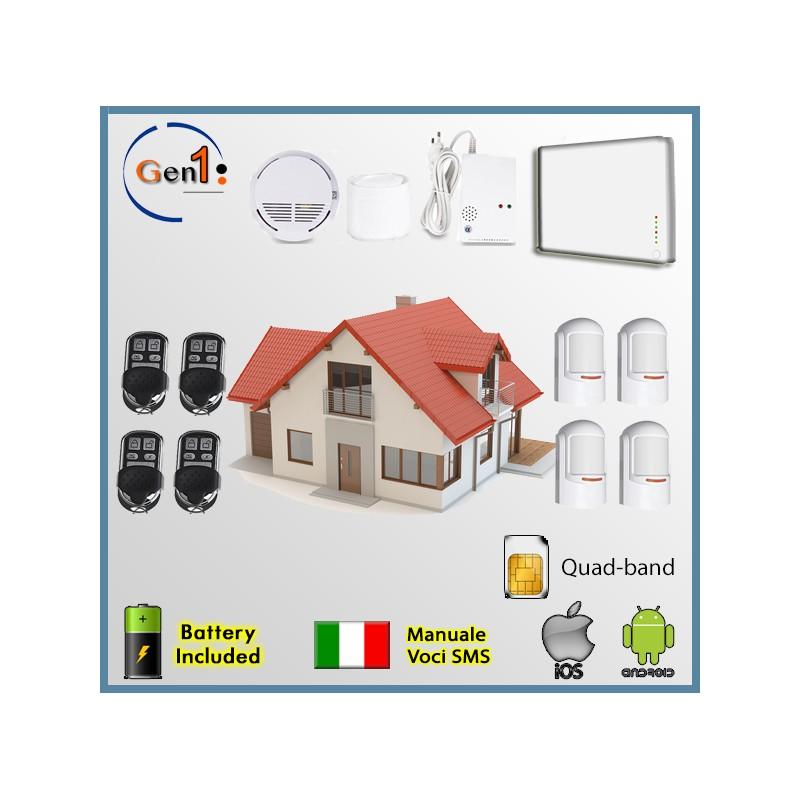 Kit Allarme Wireless GSM Casa Antifurto Senza Fili Perimetrale da ...