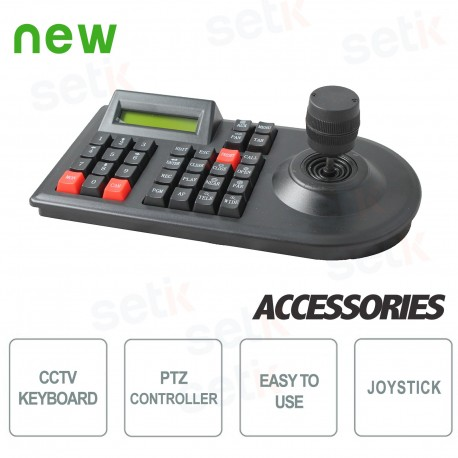 Keyboard 3D PTZ Controller - Display - RS485 & RS232 - KB3DPTZ