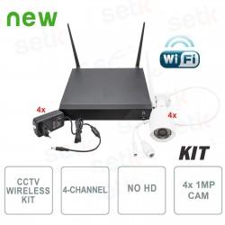 Kit Videosorveglianza Wireless IP 4 Canali