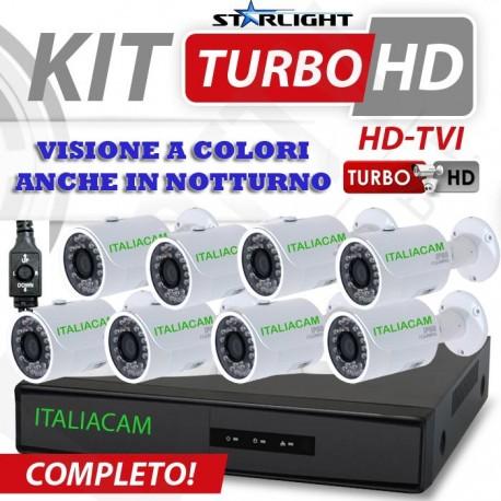 Kit Videosorveglianza 4 Canali AHD 720P 4 Telecamere 2300TVL No HD