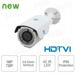 Telecamera HDTVI 720P Bullet - 2.8-12mm IR - BLTVI7202812IRW-ITALIACAM