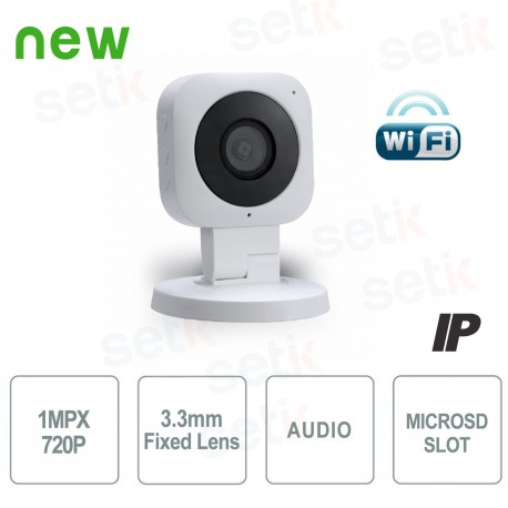 Telecamera IP WiFi 720P 3.3mm IR Led Da interno - Serie Cube - Dahua - IPC-C10