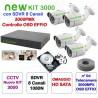 Kit Videosorveglianza 4 Canali AHD 720P 4 Telecamere 3000TVL No HD