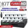 NUOVO KIT 3000 STARLIGHT  DVR 16 Canali AHD 1080N 16 Telecamere 3000TVL