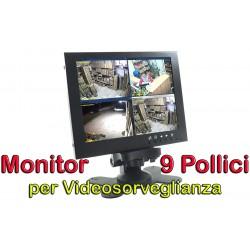 MONITOR 9 POLLICI per VIDEOSORVEGLIANZA