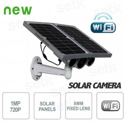 Telecamera IP Solare 1MP 8mm Wireless P2P Onvif  con SD Card