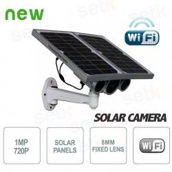 Telecamera IP Solare 1MP 8mm Wireless P2P Onvif  con SD Card
