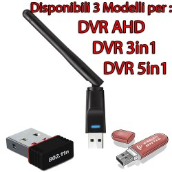 ANTENNA  WiFi per connessione Rete DVR ITALIACAM 150Mbps 802.11N - WIFIKEY
