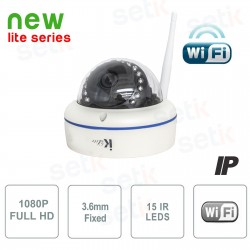 TELECAMERA IP  1MP 3.6MM IR WIRELESS -  ONVIF BULETT e DOME