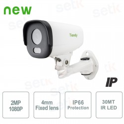 Telecamera IP Bullet 2MP 4mm IP66 WDR - Tiandy - TC-NC210-I3
