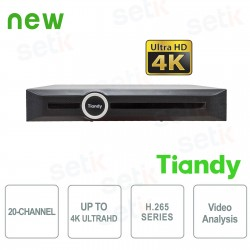 NVR 20 Canali 4K ULTRA-HD H.265 Video Analisi Smart Search&Recording - Tiandy - TC-NR5020M7-S1