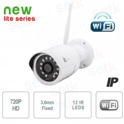TELECAMERA IP STANDALONE 1MP 3.6MM IR WIRELESS -  ONVIF