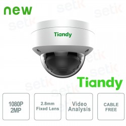 Telecamera IP Mini Dome 2MP 2.8mm CableFree Video Analisi WDR - Tiandy - TC-NC252