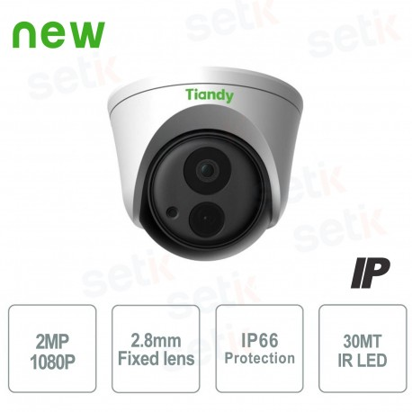 Telecamera IP Dome 2MP 2.8mm IP66 WDR - Tiandy - TC-NC220-I3