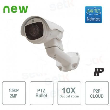 Telecamera Motorizzata IP Bullet PTZ 1080P 10X IR 5.1-51mm P2P - PTZIP2M10XBL