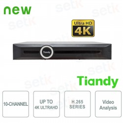 NVR 10 Canali 4K ULTRA-HD H.265 Video Analisi Smart Search&Recording - Tiandy - TC-NR5010M7-S1
