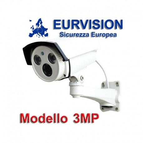 "Telecamera EURVISION  3MP Bullet Ibrida 4in1 ""Analogica/Ahd/Hdcvi/Hdtvi"" XVI 1080P 4mm Starlight"