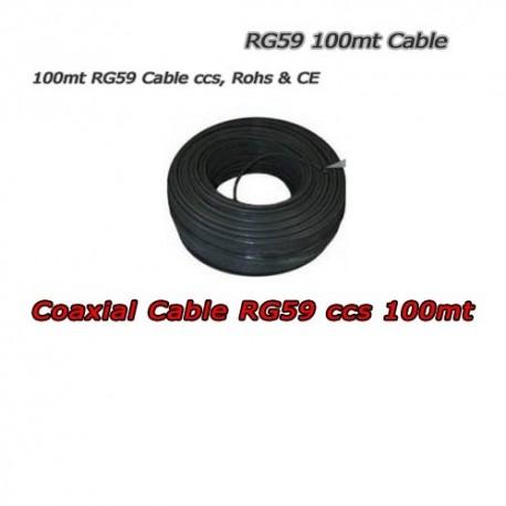 Matassa di Cavo Coassiale 100 Metri RG59 CCS