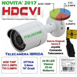 TELECAMERA IBRIDA HD/AHD-CVI-TVI SONY con Men? OSD EFFIO 3000TVL