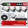 Kit Videosorveglianza 4 Canali AHD 720P 4 Telecamere 3000TVL + HD + Cavi con Alimentazione